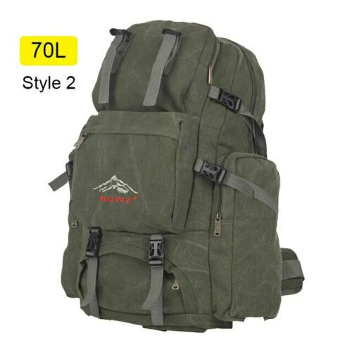 Large Camping Bag Traveling Backpack Canvas Army Military Bags 60L