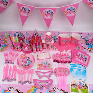 New My Little Pony Girls Theme Tableware Favor Kids Birthday Party