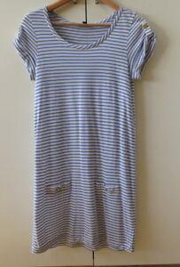 Pretty-Blue-White-Stripes-T-Dress-from-SABA-Size-8
