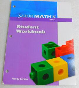 Saxon-Math-K-Part-1-Student-Workbook-Nancy-Larson-Homeschool-2012-Classroom