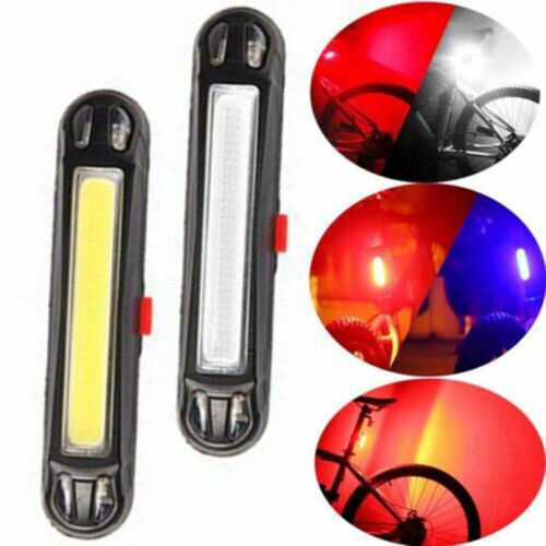 USB Rechargeable LED Bicycle Bike Cycling Front Rear Tail Light Lamp Acces