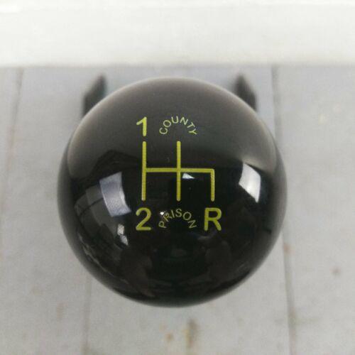 Yellow Shift Pattern Black Shift Knob 4 Speed Shifter County Prison V8 Hot Rod