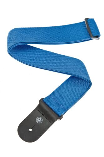 Polypro Guitar Strap with Leather Ends Planet Waves by D/'Addario Blue