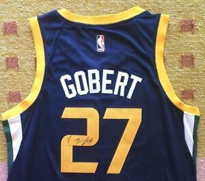 finest selection b25c5 13d84 Details about Rudy Gobert Signed Autograph Utah Jazz Jersey NBA France