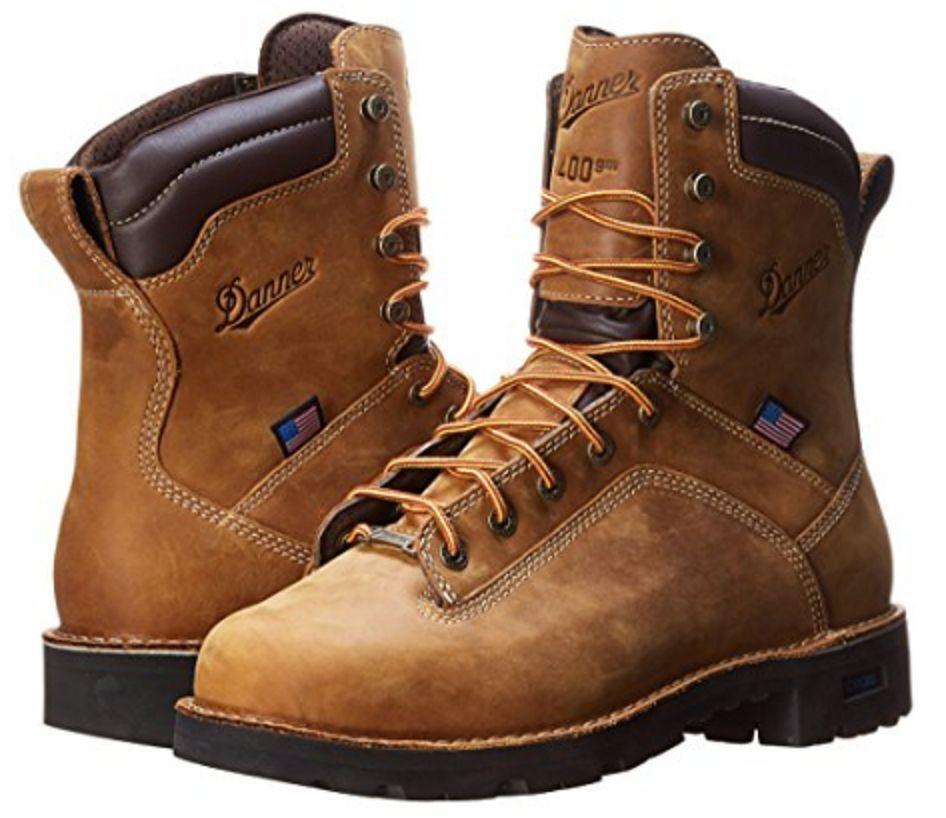 Danner Uomo Quarry USA 8 Inch 400G Insulated Pelle marrone Work Boot-17319 NIB