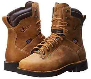 ef9ea590a Danner Mens Quarry USA 8 Inch 400G Insulated Leather Brown Work Boot ...
