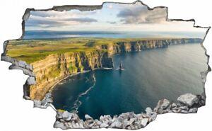 Irland Küste Felsen Meer Wasserfall Wandtattoo Wandsticker Wandaufkleber C2558