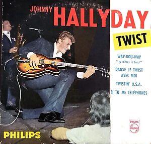 Johnny-Hallyday-CD-Single-Twist-Tirage-Limite-Numerote-France-VG-EX