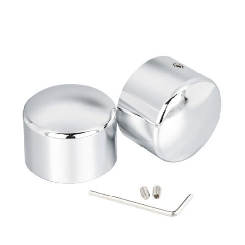 Chrome Front Axle Cap Nut Cover Fit For Harley Softail Dyna Touring Streel Glide