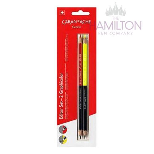 Caran d'ache graphicolor Lápices-Conjunto de 2 lápices de color//HB
