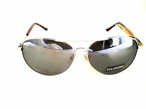 10fa86d6ba Image is loading Dockers-Sunglasses-Aviator-Gold-Polarized-Lenses