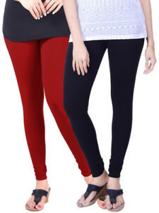 56d9af59d3adb8 Lux Lyra Pack of 2 CHURIDAR LEGGINGS ETHNIC PANTS TROUSERS BOTTOMS ...