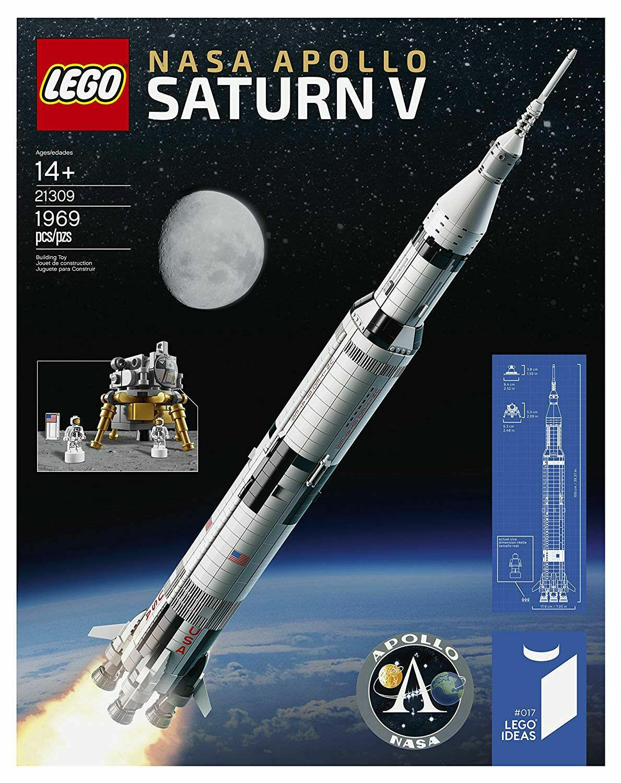 Lego Ideas 21309 la NASA 1969 lanzamiento del cohete Saturno V espacio Apollo 1969 un.