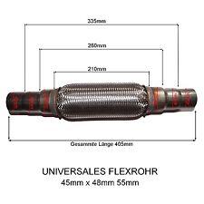 NISSAN Universal Flexrohr Flexstück Flammrohr Hosenrohr Auspuff 45x48x55 405MM
