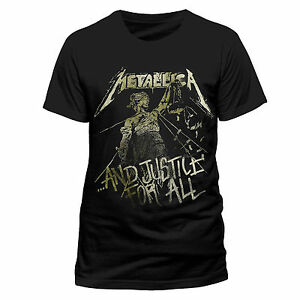 481b4ce4ed Details about Metallica - And Justice For All Vintage - Official Men's  Black T-Shirt