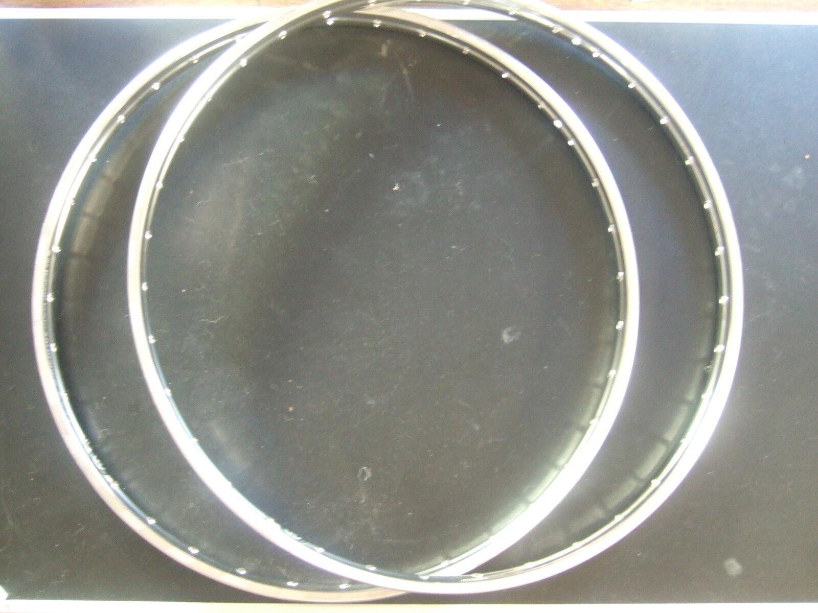 Niro edelstahlfelgen 28x1,75 , 36 loch mit westwood profil , 4,2mm loch, 2x neu