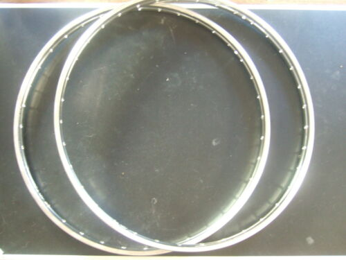 2 s stainless steel rims 28x1,75 , 36hole with westwood profil , 5,5 mm hole