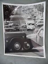 Vintage B&W Victoria BC News Photo Accident VW Bug vs IH 200 International Truck