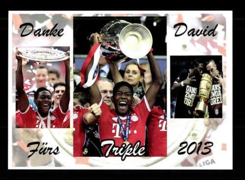 David Alaba Autogrammkarte Triple Sieger 2013 Danke David