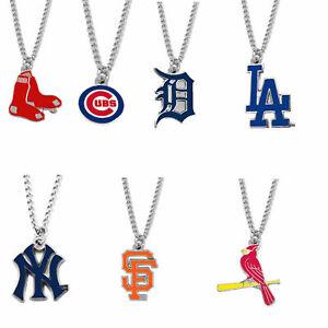 MLB-logo-necklace-charm-pendant-PICK-YOUR-TEAM