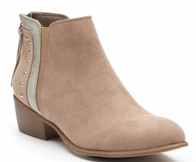 NWT Women's Candie's® Famous Ankle Boots Choose Size Taupe