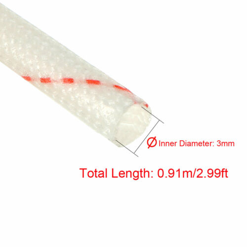Fiberglass Sleeve 2mm-20mm Inner Dia PVC Insulation Tube 1500V 125C Wrap 5Pcs