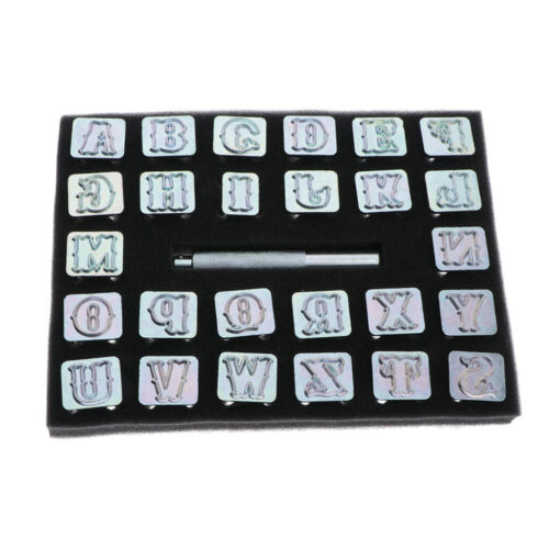 27 Stück Schlagbuchstaben A-Z Alphabet Buchstaben Stempel Punsch Set 19mm