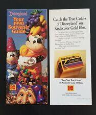 Vtg Disney Ephemera 1990 Disneyland Souvenir Guide Map 35th Birthday Anniversary