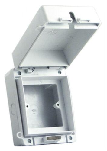 Europa ecwsk 1 Interruptor Impermeable//Zócalo 1G 1 Gang sola caja caja de aire libre