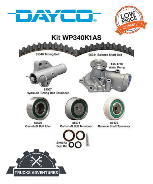 Dayco Engine Timing Belt Kit with Water Pump P//N:WP340K1AS