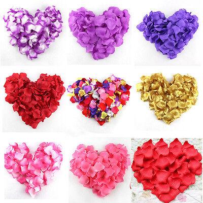 100pcs Silk Rose Flower Petals Leaves Wedding Party Table Confetti Decorations