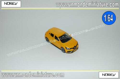 Renault Mégane RS Yellow NOREV - NO 319150.4 - Echelle 1/64 NEWS AOUT 2018