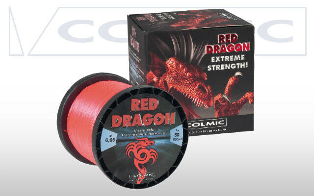 FILO INVISIBILE RED DRAGON COLMIC VARIE MISURE MONOFILO red