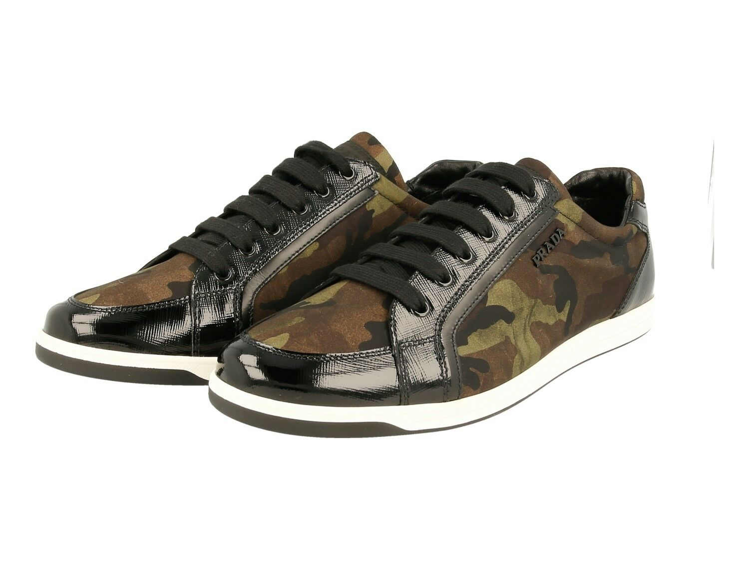 AUTH PRADA SAFFIANO SNEAKERS SHOES 3E5892 CAMOUFLAGE NEW 40 40,5 UK 7