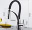 AS-Gooseneck-Black-Brass-Pull-Down-Spout-Kitchen-Sink-Chrome-Faucet-Mixer-Taps thumbnail 1