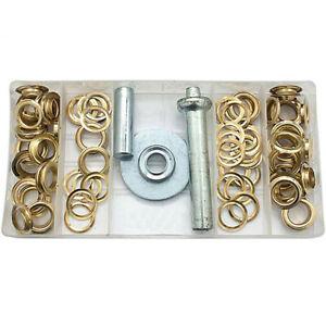 Set occhielli 103 pezzi assortito con applicatore installazione teloni kit brico