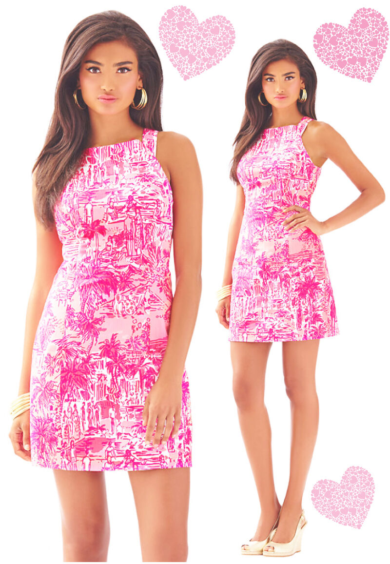 188 Lilly Pulitzer Simone Cheeky Melon Rule Breaker Shift Dress