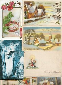 Happy-New-Year-And-Christmas-Postcard-Lot-of-40-01-13