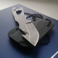 Fixed Knife Pocket Multi Tool Edc Outdoor Survival Hunting Camping Self Defense