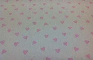 Clarke-and-Clarke-Studio-g-Pink-HEARTS-Cotton-Fabric-for-Curtain-Upholstery