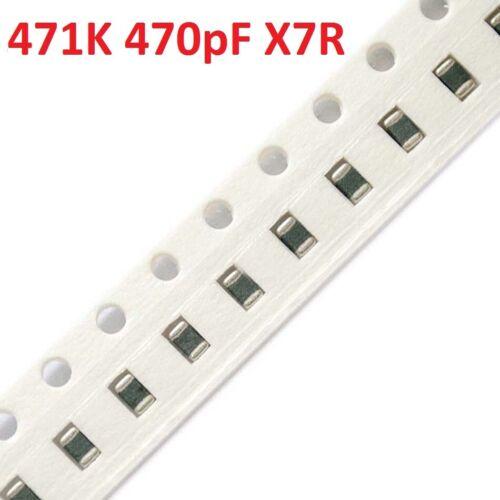 0805 470pF 471K X7R SMD Chip Capacitores De Cerámica//Condensadores de Cerámica 100 un