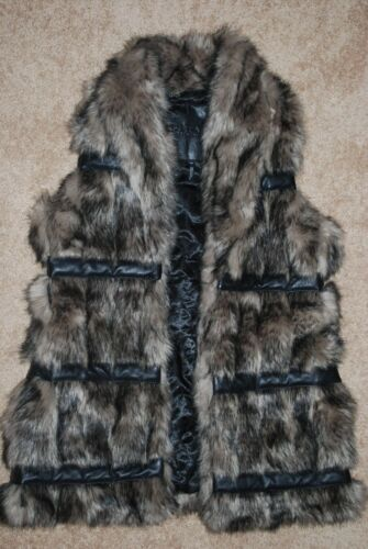 lille Britton David Women's New Vest Faux 128 Heavyweight Buffalo Fur Oq8xtUw