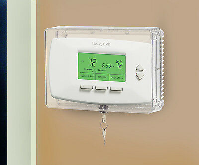 Universal Locking Thermostat Cover Medium Anti Tamper Clear Security Guard