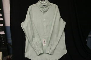 Club-Room-Green-and-Blue-Check-Dress-Shirt-Size-16-Sleeve-34-35