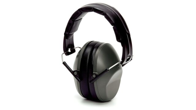 Pyramex PM9010 22dB NRR Hearing Protection Low Profile Ear Muff Gray