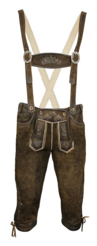 Maddox Mens Breeches Pants Croda Rossa with Straps-Antique Walnut Brown Costume