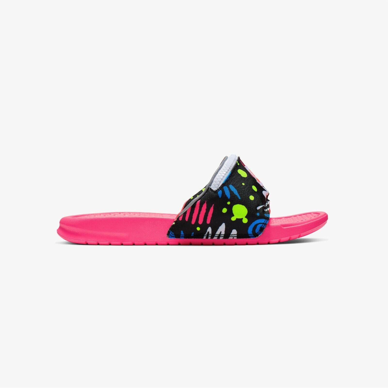 sofá Derribar Conceder  Nike Benassi JDI Fanny Pack Mens Ao1037-600 HYPER Punch Grape Sandals Size  12 for sale online | eBay