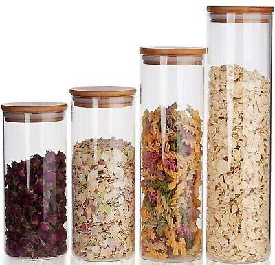 Glas-Gläser Vorratsdose mit Holz deckel Vorratsglas Vorratsgläser Dose