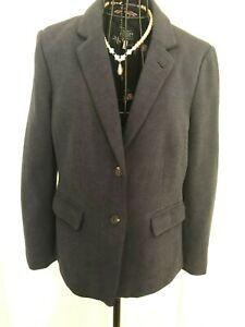 Stunning-Ladies-JOULES-Agatha-Navy-Cotton-Blazer-Jacket-UK-14-Floral-Lining