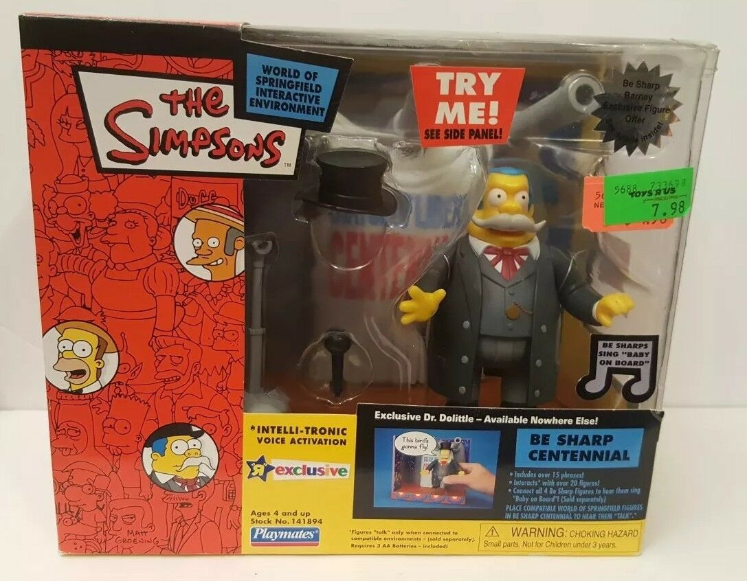 2003 Playmates Toys R Us Exclusive The Simpsons Be Sharp Centennial Dr Doolittle